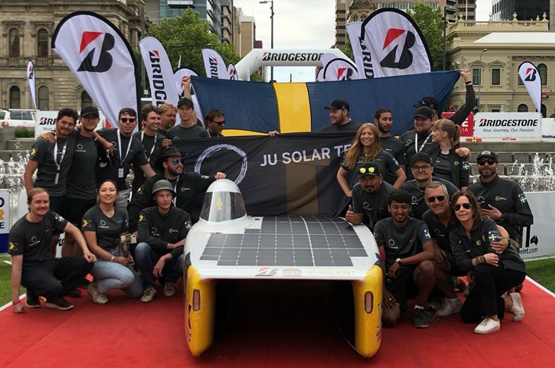 The JU Solar Team Finished The Solar Challange)